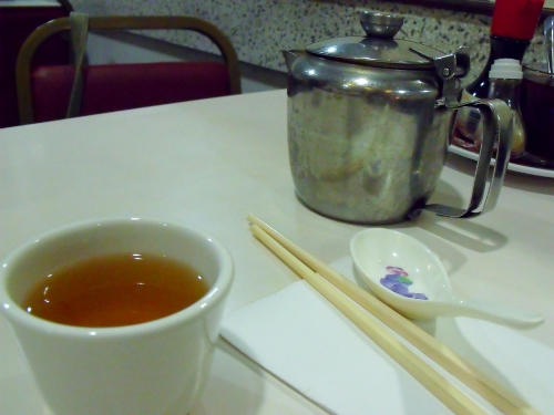 jasmine tea at Wong Kei
