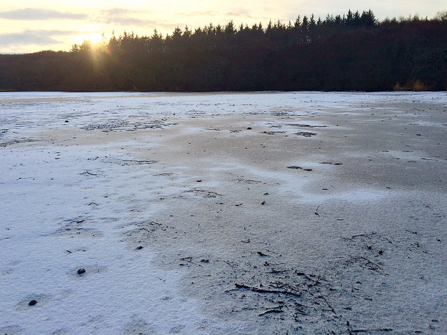 snow and ice on the loch