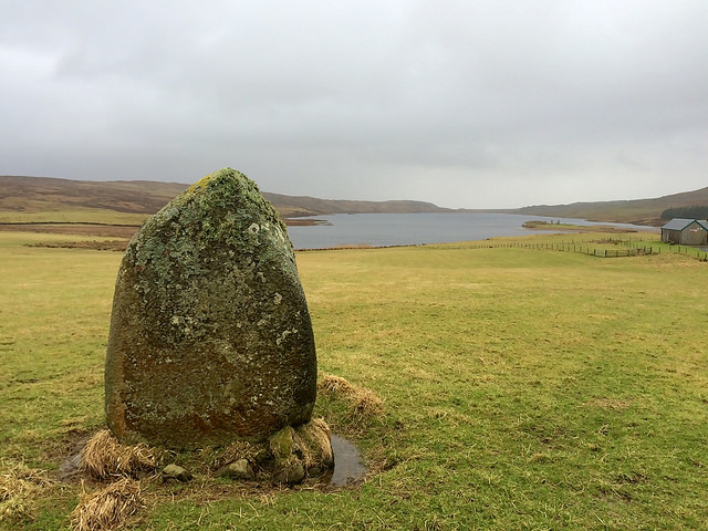 standing stone at Finlaggan