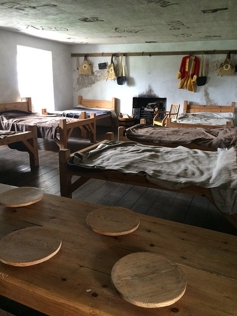 18th century barracks room