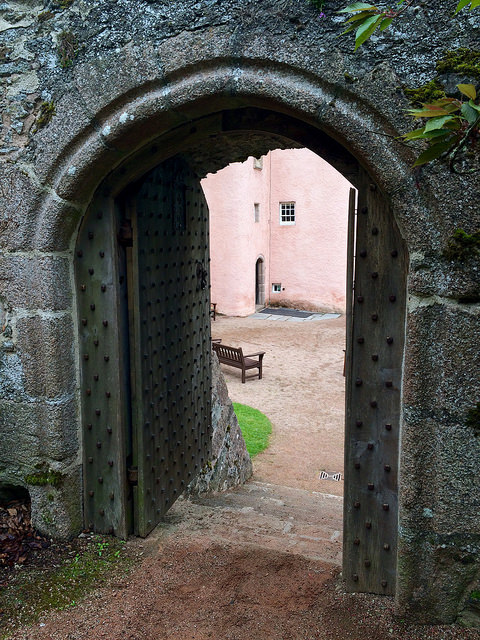 door at Craigievar