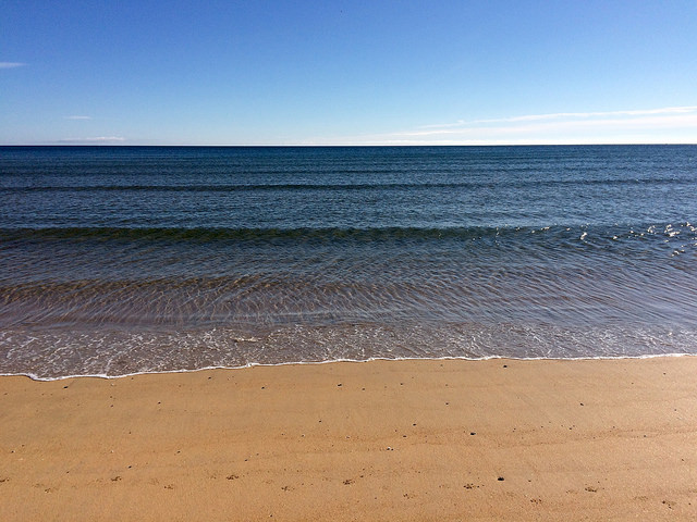 sea at Fraserburgh beach